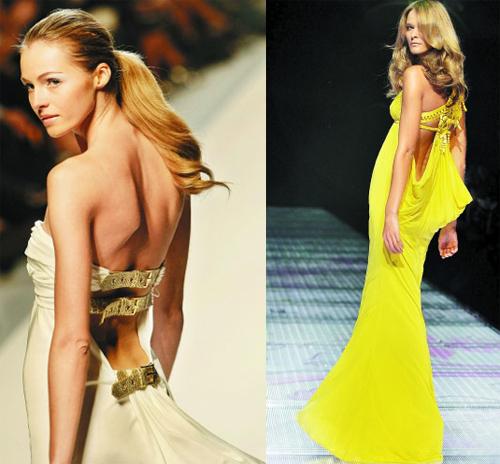 各路时尚模特都争先恐后地露出大腿亮出美背