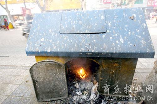 看到垃圾桶里的套子-乱扔烟头 垃圾箱成 地锅